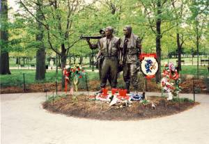 Bronze at Viet Nam War Memorial